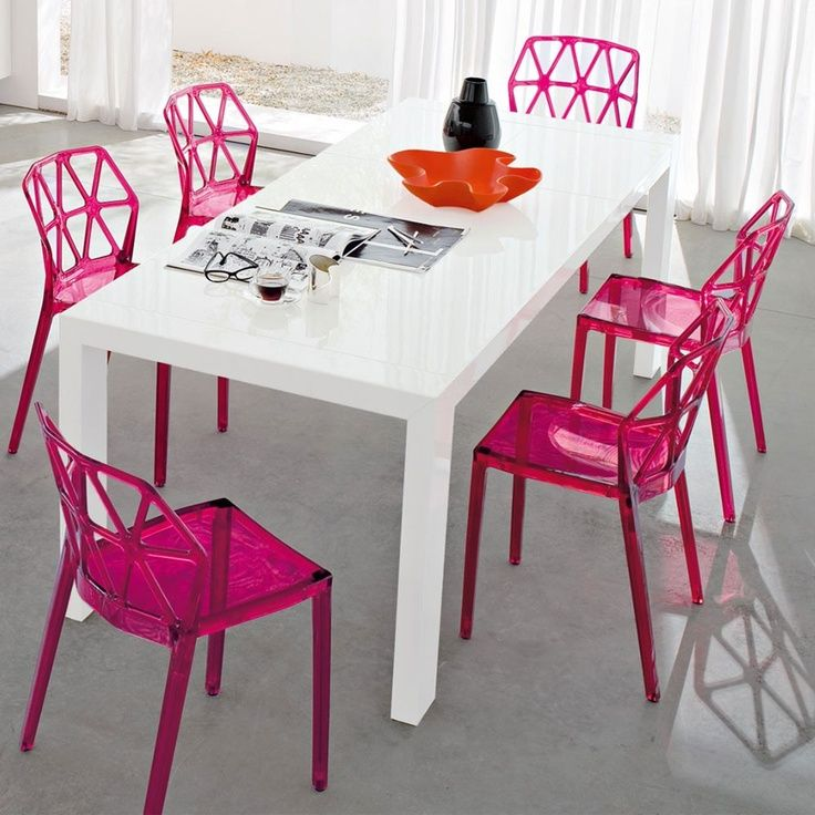 Exceptional Calligaris Alchemia , Dining Room With Pink Chairs