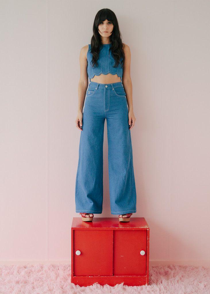 Port jeans - ultramarine – Samantha Pleet