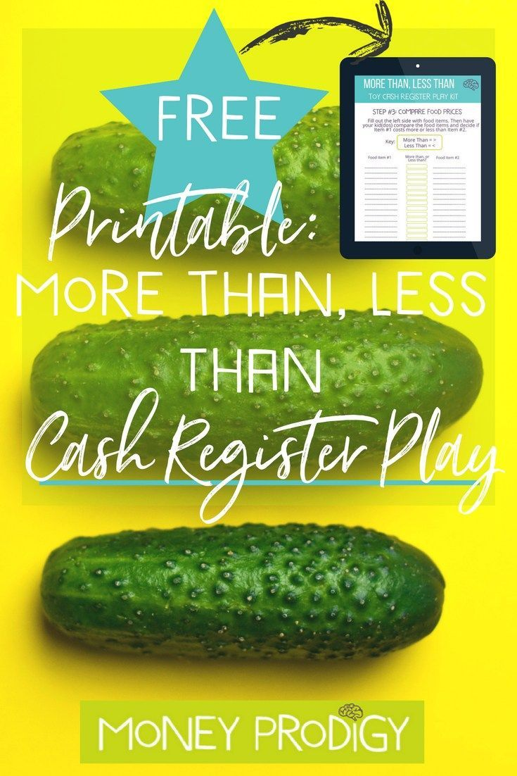 Looking for pretend play ideas for girls OR boys? This DIY preschool (+) activities + includes one of my fave learning printables so you can set up intentional money cash register games. | https://www.moneyprodigy.com/cash-register-games-less-money-play/