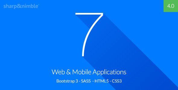 Se7en - Bootstrap 3 Responsive Admin Template by SharpandNimble | ThemeForest