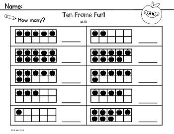 Printables Ten Frame Worksheets 1000 images about math tenframes on pinterest activities ten this is a set of 6 frame worksheets perfect for practicing number recognition