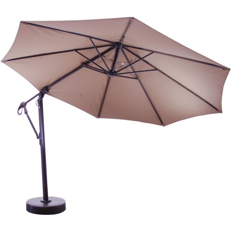 Galtech 11 Ft Aluminum Cantilever Patio Umbrella With Easy Lift And Easy  Tilt Available At Ultimate