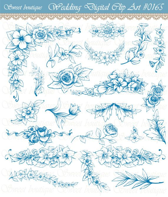 Pictures Of Blue Wedding Borders Clip Art