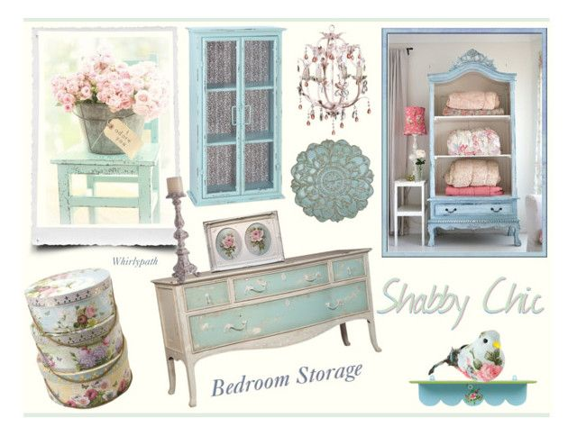 Shabby Chic Bedroom Storage! by whirlypath on Polyvore featuring interior, interiors, interior design, home, home decor, interior decorating, Dot & Bo, Stratton Home Décor, WALL and bedroom