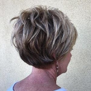Short Layered Hairstyle With Highlights by magdalena