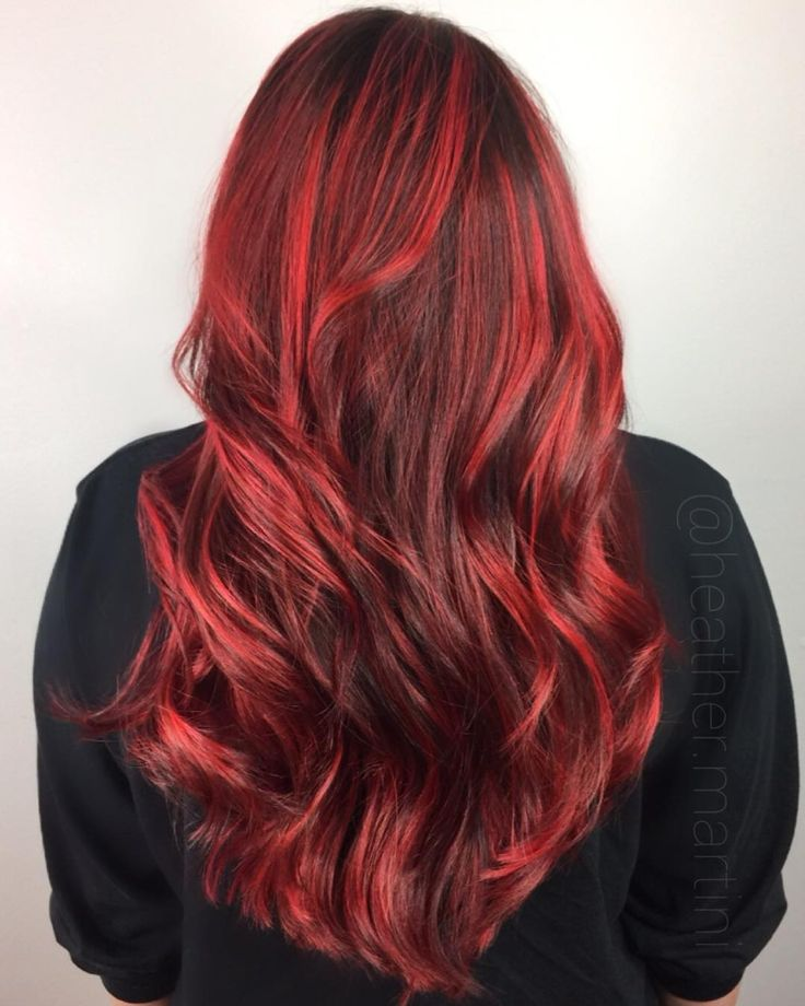 25 parasta ideaa pinterestiss bright red highlights plenty of bright red highlights and s good olaplex treatment hair by heather pmusecretfo Images