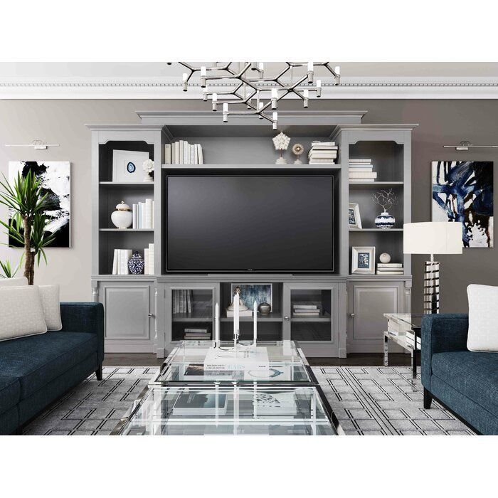 Wisser Entertainment Center For Tvs Up To 55 Living Room Entertainment Center Living Room Entertainment White Entertainment Center