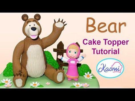 Masha and The Bear (Cake Toppers) Part 2 / Cómo hacer Masha y El Oso para tortas Parte 2 - YouTube