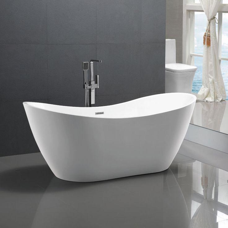 freistehende badewanne raffinierten look – topby, Badezimmer