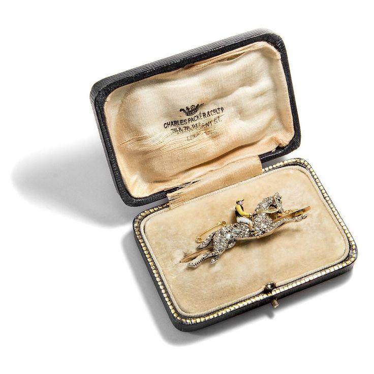 Speed of Light: Diamant Brosche eines Jockeys mit Pferd um 1900 / Diamanten Gold in Antiquitäten & Kunst, Antikschmuck, Schmuck & Accessoires | eBay!