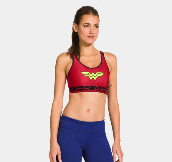 Did I just order this?  Yes!!  Will I wear it to boot camp every time?  Hell yes!!! Women's UA Wonder Woman Sports Bra