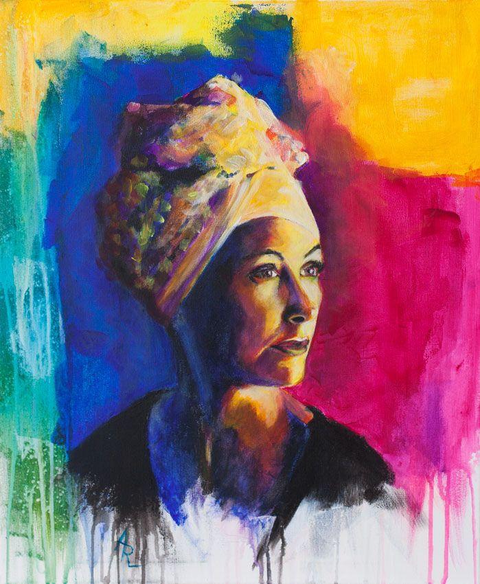 https://flic.kr/p/Wfrtar | Sylwia | acrylic on canvas  60 x 50 cm