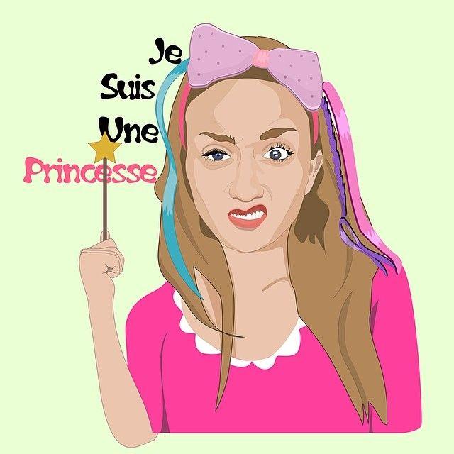 Lucie la princesse. Portrait de mon amie Lucie, clairement la plus bonne.