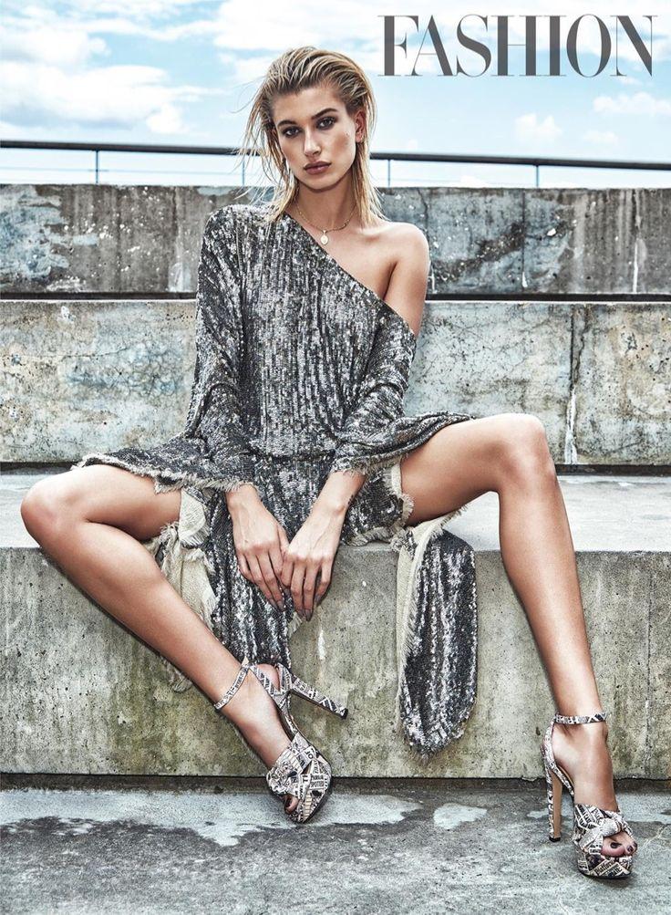 FASHION Magazine October 2017 Hailey Baldwin photographed by Richard Bernardin | fashion editorial fashion photography