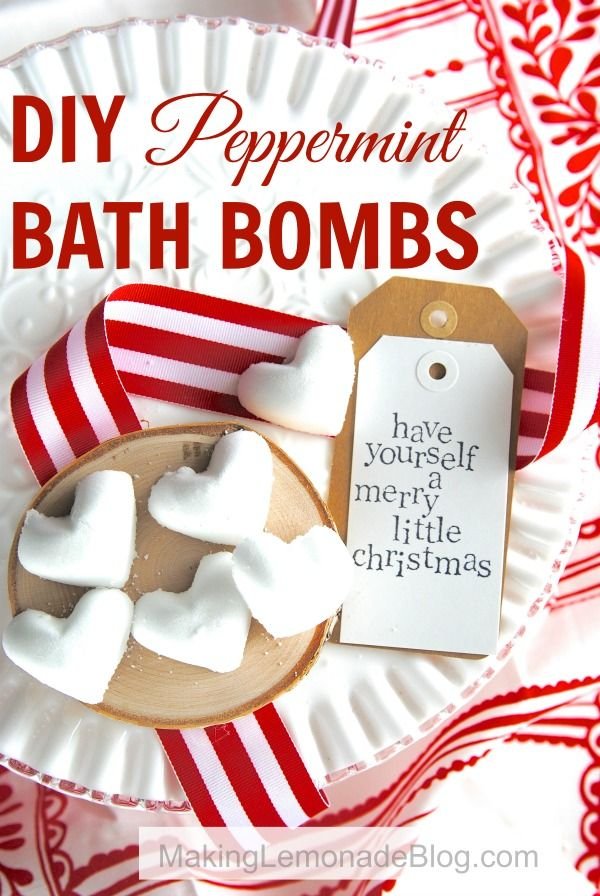 Amazing Christmas Gifts For Her Part - 34: DIY Peppermint Bath Bombs-- Youu0027ll Love These Festive Fizzies! Homemade  GiftsDiy Gifts HerDiy Christmas ...
