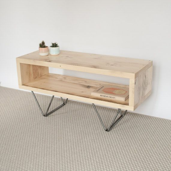 Sophie Reclaimed Wood TV Stand TV Cabinet Hairpin Legs