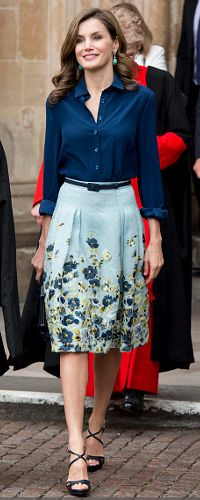 13 Jul 2017 - Queen Letizia at Westminster Abbey on Day 2 of State Visit to UK
