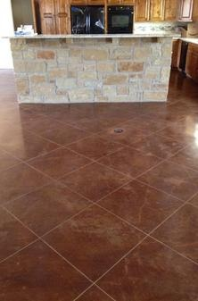 14 best images about stain concrete on pinterest kitchen for How to clean scored concrete floors