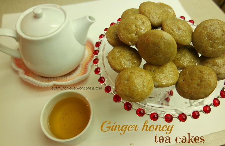 One of the most delicious sick friendly combinations out there. Ginger and honey! These tea cakes are perfect for tea parties and are super moist in the inside. They are sweetened with honey so no refined sugars!
