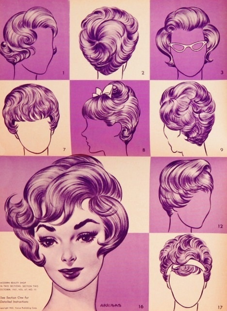 Hairstyles for blonde medium hair from the 1960s