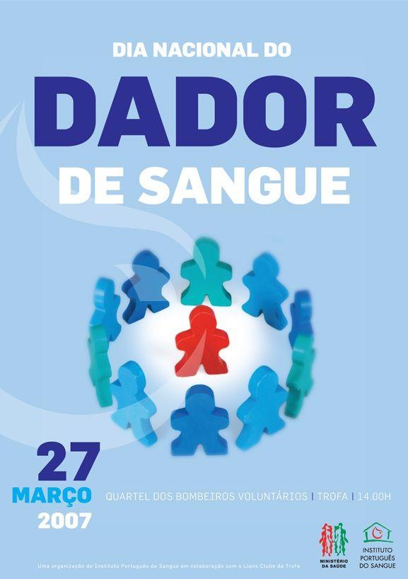 Dia Nacional do Dador de Sangue, 27 de março de 2007.
