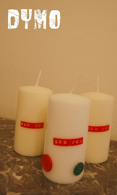 Text on candels