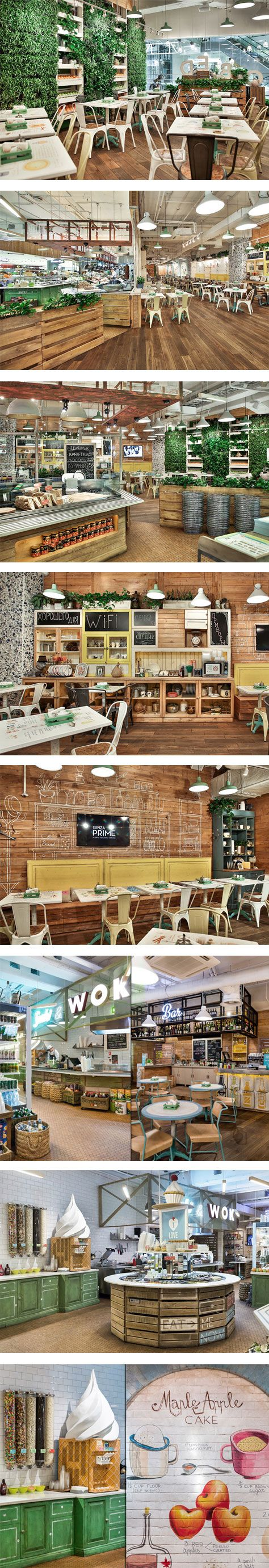 Obed Buffet fast-food restaurant by G-Sign, St. Petersburg – Russia.