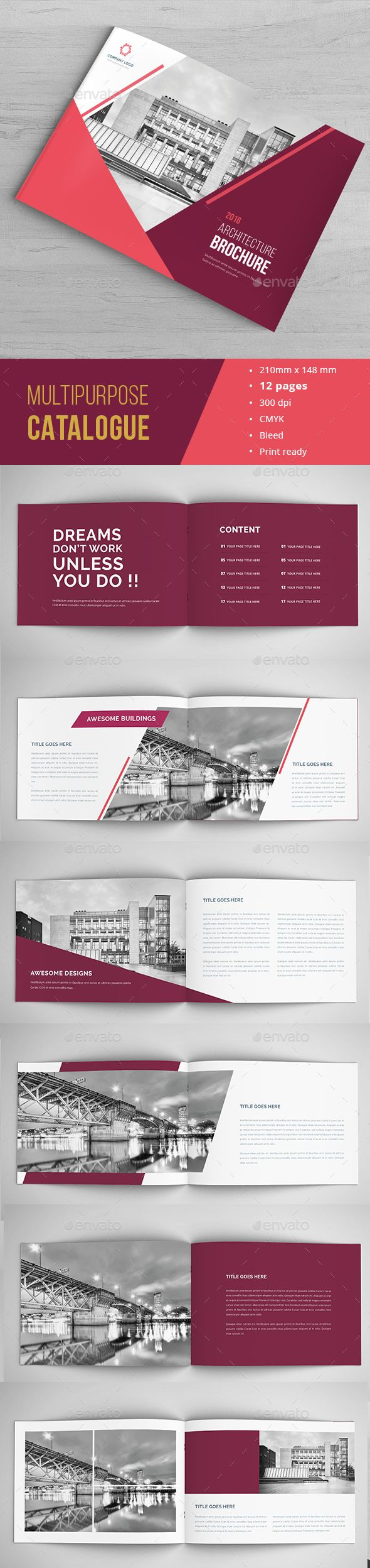 Arc Portfolio Brochure Template InDesign INDD. Download here: http://graphicriver.net/item/arc-indesign-portfolio/16655250?ref=ksioks