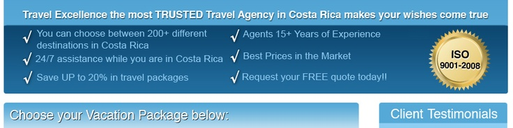Costa Rica Travel Vacations Packages: Best Costa Rica All Inclusive Vacation Packages, Last Minute Travel Deals, Cheap Travel Packages