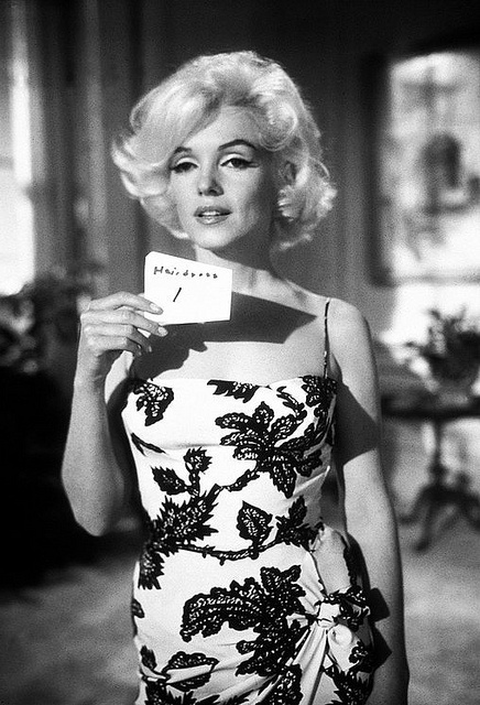 """Marilyn Monroe - hair test for her uncompleted film entitled """"Something's Got to Give"""" in 1962 - never more beautiful!"""