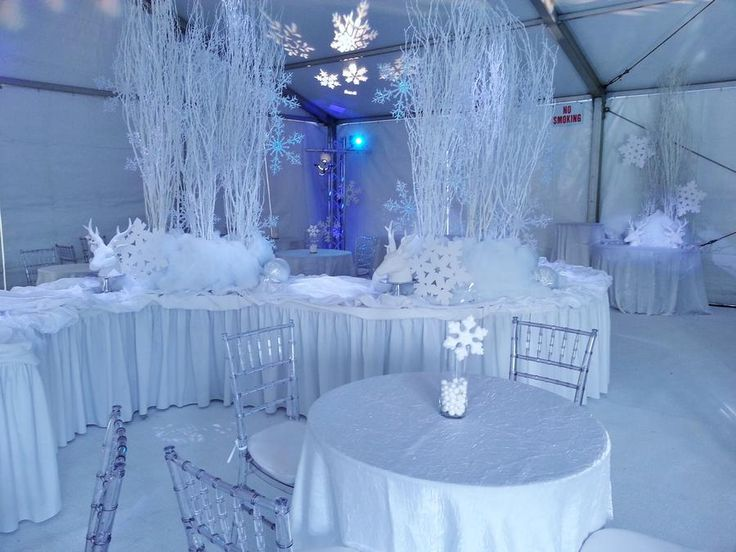 Superb Christmas Party Raffle Ideas Part - 10: Love The Serpentine Buffet Table At A Snowflake Winter Freeze Party
