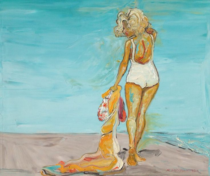"""""""Monroe"""" by Mary Karathanassis, oil on canvas"""