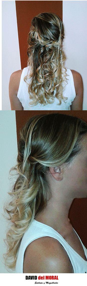 .#semirecogido #rizado #ondas #tirabuzones #estilo #estilismo #femme #party #fiesta #evento #ghd #hair #cabello #peinado #hairstyle