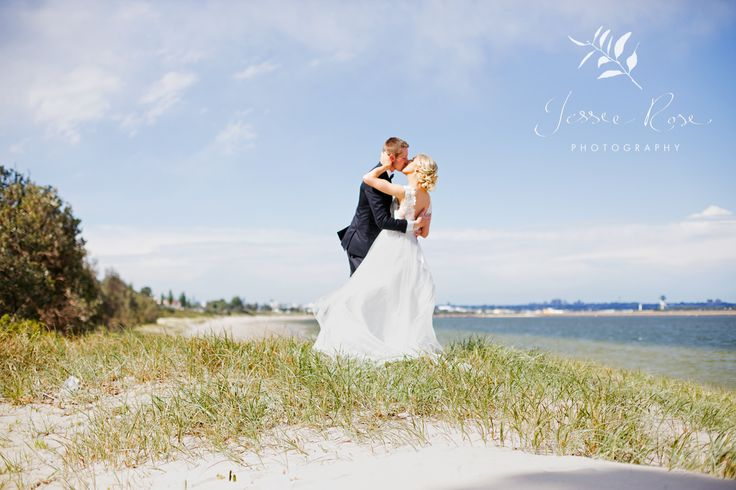 Jemimah & Christopher @ Jessie Rose Photography #weddingphotography #sydneywedding #brightonlesands #beautiful #love #sydney #bride #kiss