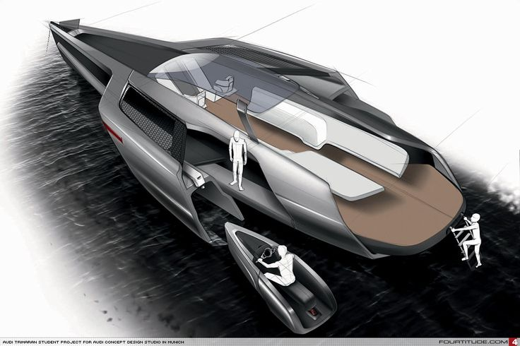 Audi Design Team Reveals Trimaran Boat Student Design