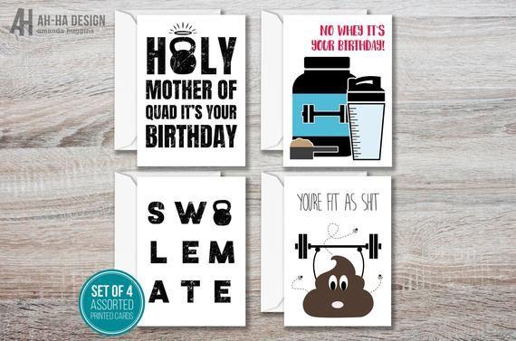No Whey It S Your Birthday Card Fitness Birthday Card 5 X 7