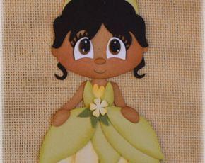 Disney Princess Anna Frozen Premade Scrapbooking Embellishment