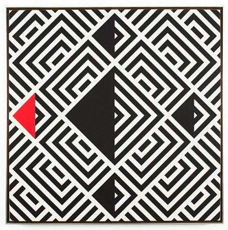 Gordan Walters: Black And White With Red Triangle, 1972.