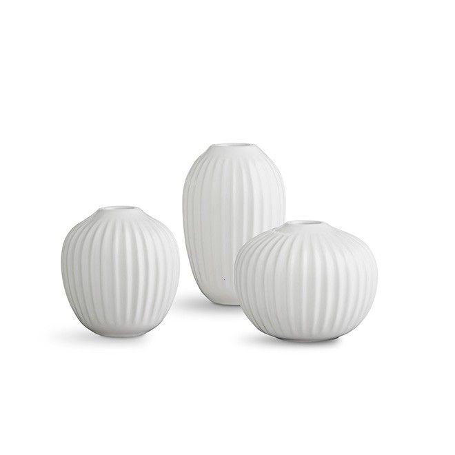 Hammershøi Vase Miniatyr 3-pakning White Se de elegante Hammershøi-vasene i…