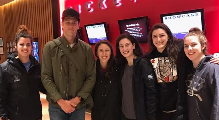 TOM BRADY meets fans at a movie