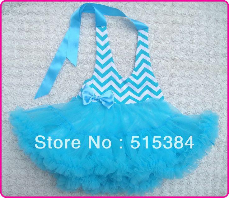Princess Turtuqoise Chevron Petti Halter Dress Baby Wedding Dresses Newborn Fluffy Mt With For Weddings