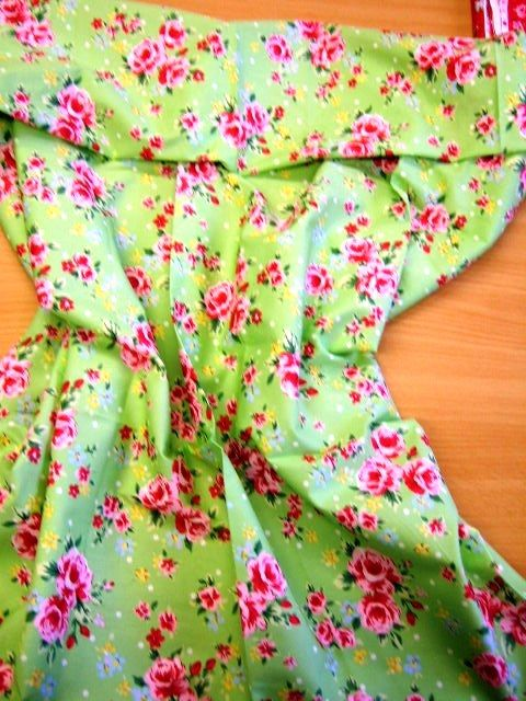 Green chintz fabric