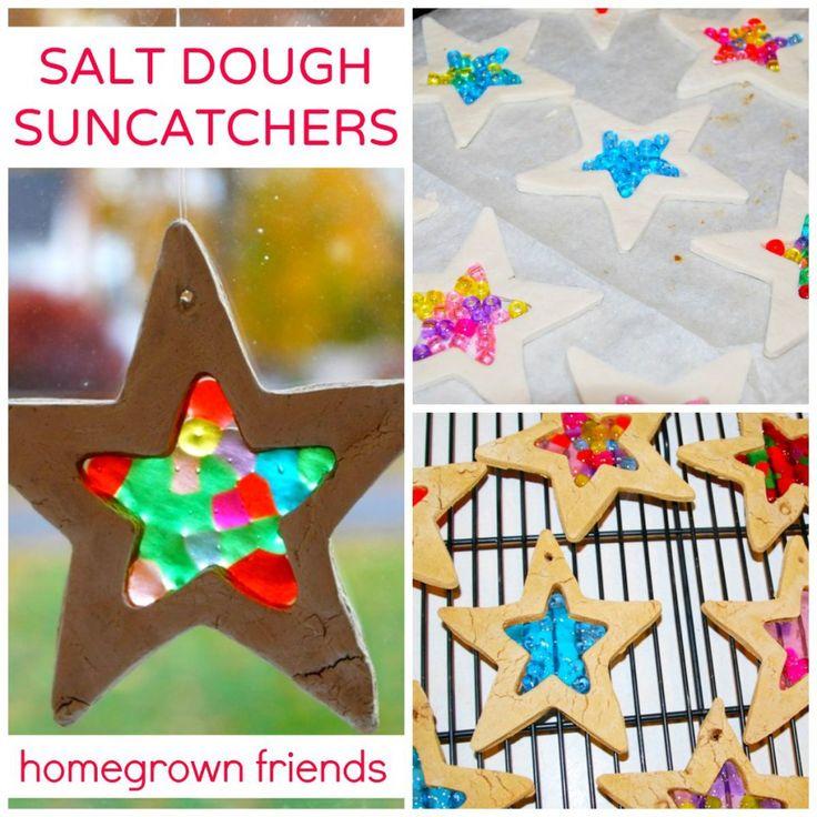 Salt dough + pony beads = endless ideas! :)