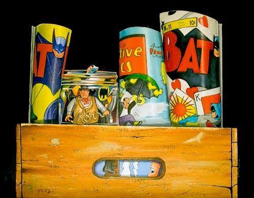"Vic Vicini | OIL | ""Batman and the Crate"""