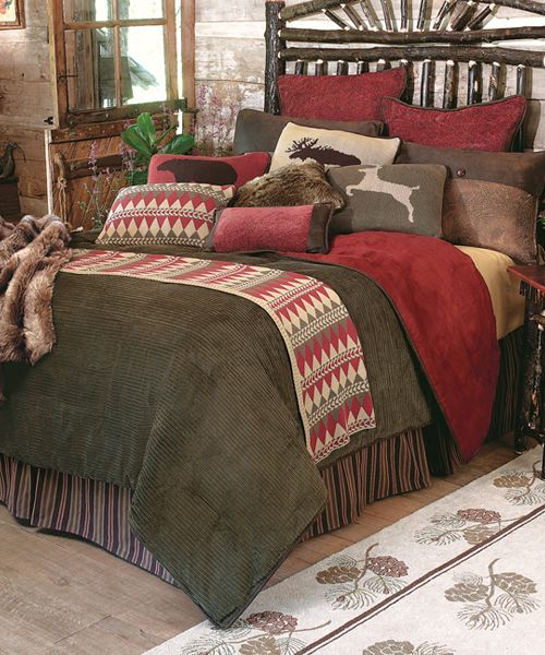 ... gorgeous textures and a rich palette of olive green, brown, rust and  cream in cozy corduroy, chenille, faux leather and denim-weight cotton. Bed  sets ...