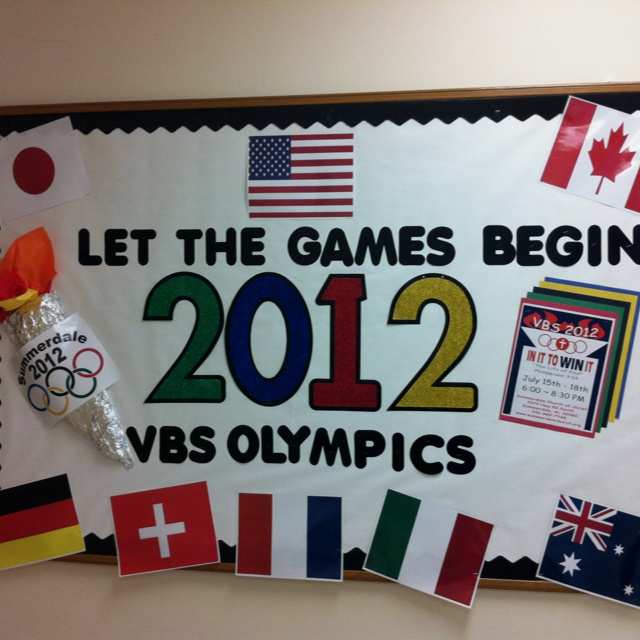 Classroom Olympics Ideas ~ Let the games begin adaptable bulletin board for an