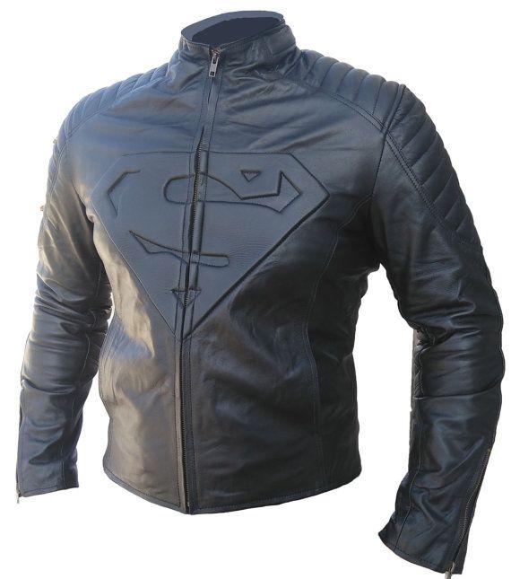 Superman hombre de acero moteros famosos cuero por FASHIONSRAMP