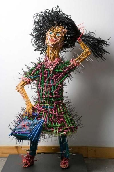 Sculptures Made out of Pencils by Federico Uribe | Just Imagine - Daily Dose of Creativity