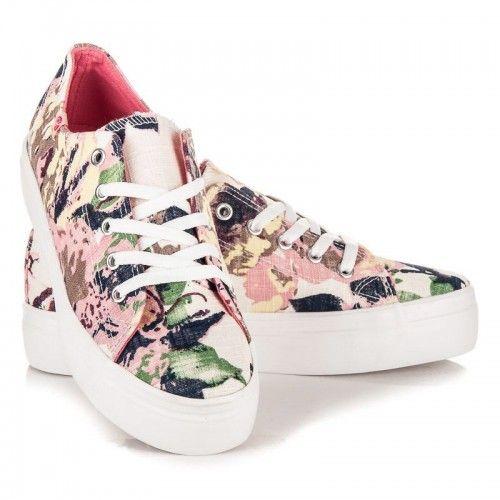 Dámské tenisky Kylie Keribum růžové – růžová Tenisky na platformě jsou v módním světě velmi oblíbené. Tenisky se zajímavým vzorem hrají v několika barvách s dominantní růžovou barvou. Tenisky se šněrovačkou jsou vhodné k ležérnímu …