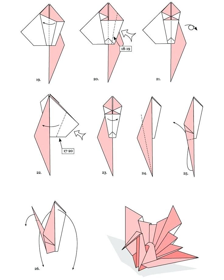 Origami Flapping Bird Instructions | 920x736